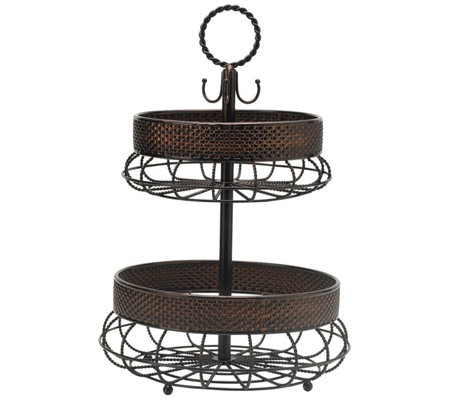 Gourmet Basics By Mikasa Twist 2 Tier Adjustable Basket