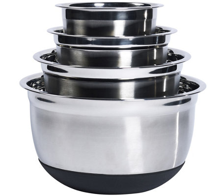Denmark 4Pc Stainless Steel Mixing Bowl Set with Silicone Bas