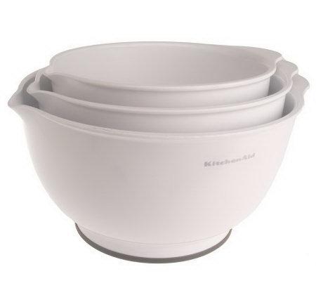 Kitchenaid Set Of 3 Non Slip Mixing Bowls