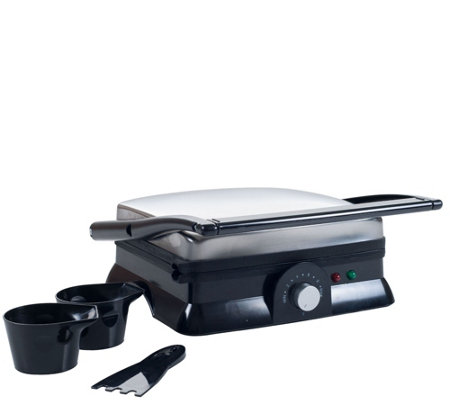 Chef Buddy Electric Nonstick Panini Press & Indoor Grill