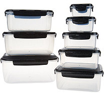 Lock & Lock 8-Piece Square Nestable Storage Set with Handle - K47093