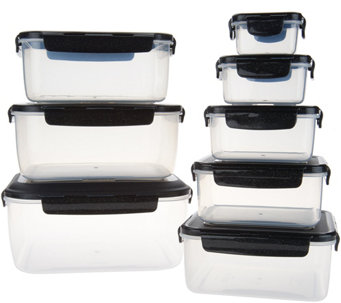 Lock u0026 Lock 8-Piece Square Nestable Storage Set with Handle - K47093  sc 1 st  QVC.com & Food Storage Containers u2014 Storage u0026 Organization u2014 Kitchen u0026 Food ...