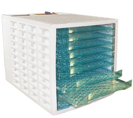Prago 10-Tray Food Dehydrator - White