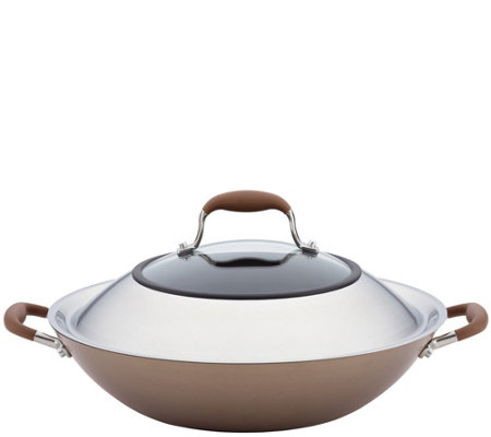 "Anolon Advanced Bronze Hard-Anodized Nonstick 14"" Wok"