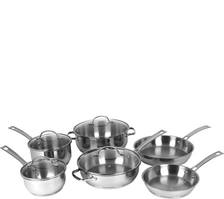 Oneida Stainless Steel 10-Piece Cookware Set