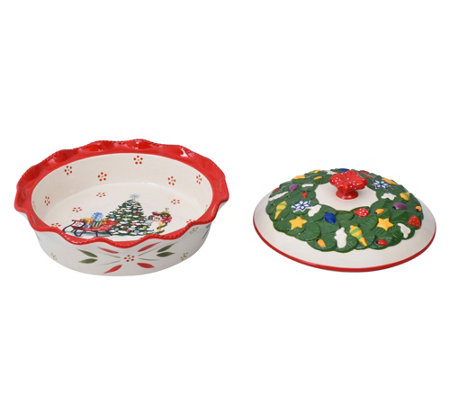 Temp-tations Figural Covered Pie Dish