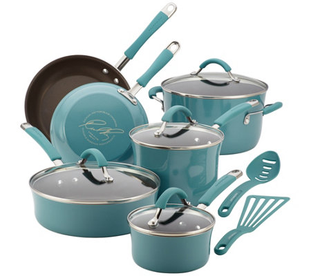 Rachael Ray Cucina Hard Enamel 12-Piece Cookware Set