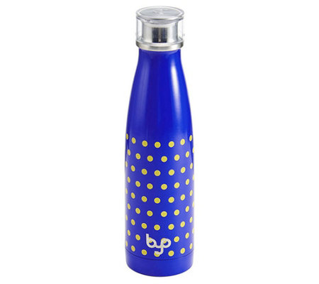 BYO 17-oz Perfect Seal Vacuum Insulated Bottle- Yellow Dot
