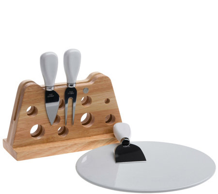 Denmark 5-Piece Cheese Set with Ceramic CuttingBoard
