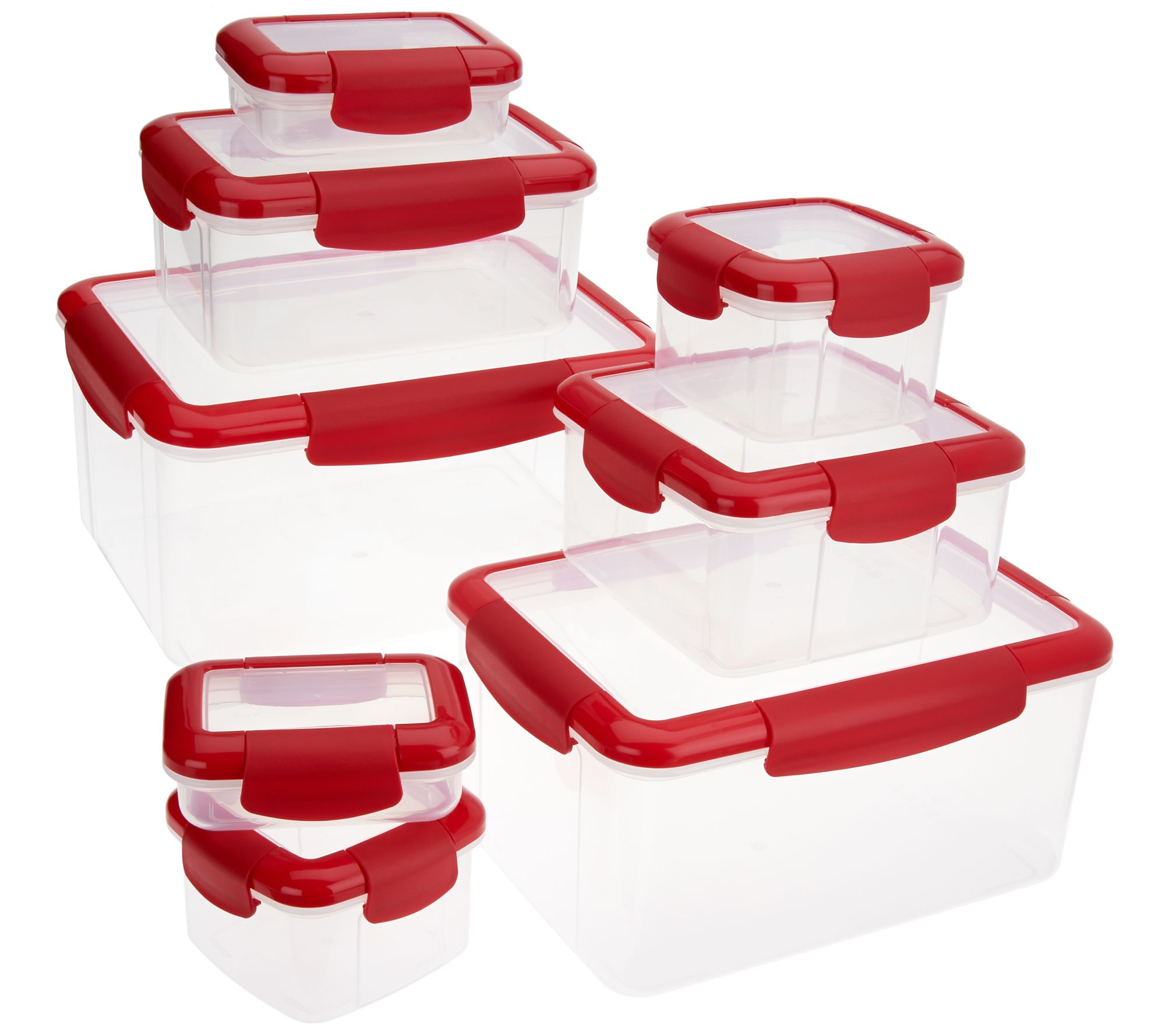 Click Close 8 piece Locking Storage Containers Page 1 QVCcom