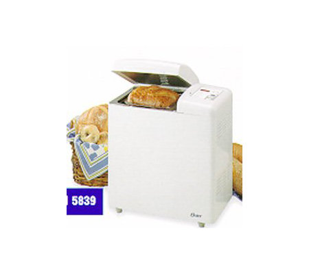 oster 5839 2 lb deluxe extra large bread anddough maker qvc com rh qvc com Oster 5821 Bread Machine Manual Oster Instruction Manual
