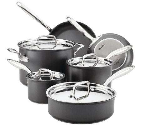 Breville Thermal Pro Hard-Anodized Nonstick 10-Pc Cookware Se