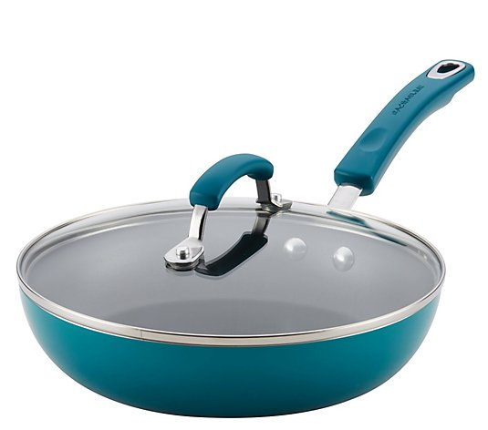 "Rachael Ray Classic Brights 9-1/2"" Covered Nonstick Skillet"