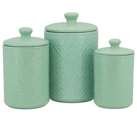 10 Strawberry Street 3-Piece Ceramic MedallionCanister Set