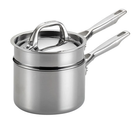 Anolon Tri-Ply Clad Stainless Steel 3-Piece Double Boiler Set