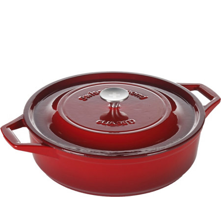 Swiss Diamond 6.3-qt Cast-Iron Shallow Casserole