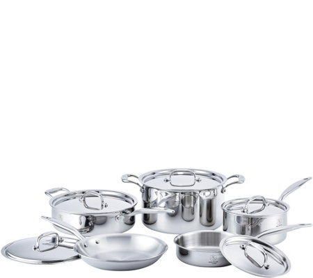 Hammer Stahl Stainless Steel Clad 10-Piece Core Cookware Set