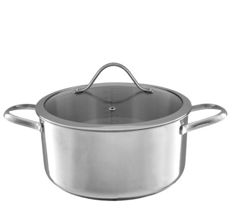 Classic Cuisine 6-qt Stainless Steel Stockpot with Glass Lid