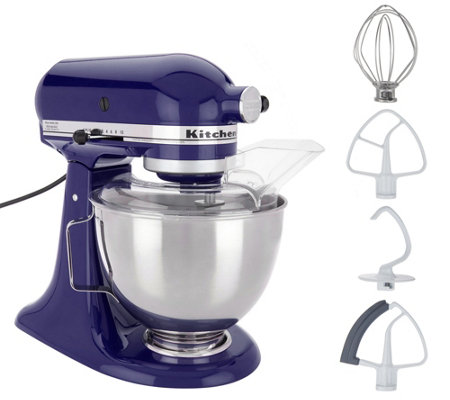 KitchenAid 4.5-qt 300W Tilt-Head Stand Mixer with Flex Edge — QVC.com