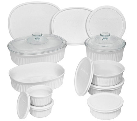 Corningware French White Oval And Round Bakeware 18 Piece Set