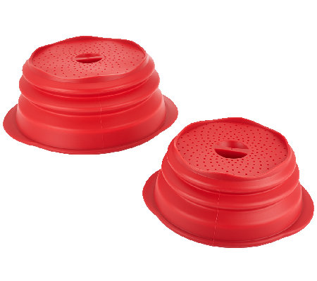Set of 2 Silicone Collapsible Multi-Lids