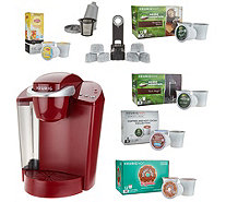 Keurig K55 Coffee Maker w/ My K-Cup, 43 K-Cup Pods & Water Filters - K46298