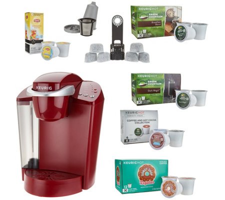 Keurig K55 Coffee Maker w/ My K-Cup, 43 K-Cup Pods & Water Filters