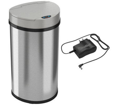 itouchless 13-Gallon Semi-Round Trash Can
