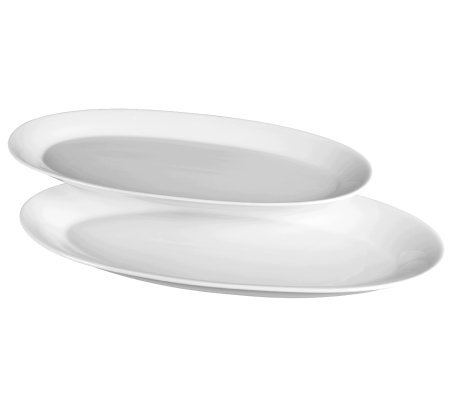 Tabletops Gallery Denmark Set of 2 Oval Platters Oven To Tabl