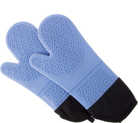 Lavish Home Reversible Silicone Heat-Resistant Oven Mitts