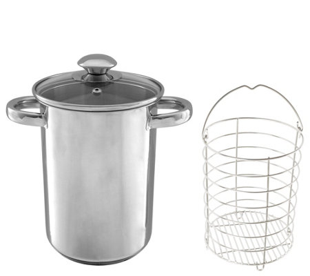 Classic Cuisine 3-qt Stainless Steel Steamer with Glass Lid