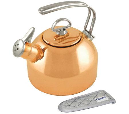 Chantal 1 8 Qt Classic Teakettle Copper