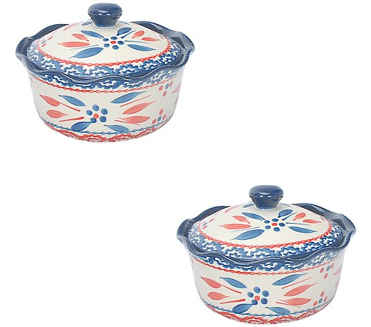 Temp-tations Old World S/2 Mini Pie Plates withDomed Lids