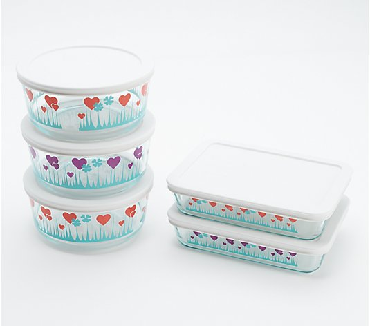 Pyrex Simply Store 5-Piece Glass Storage Set w/ Lids