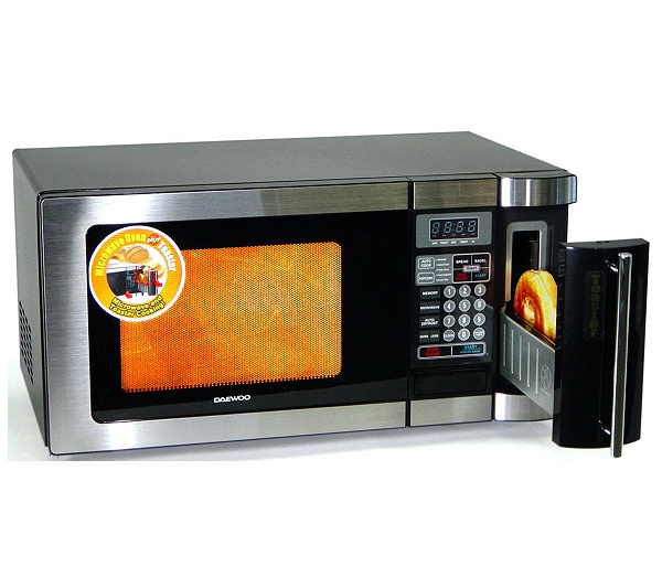 Daewoo 0.9 Cu. Ft. Microwave w/Toaster w/Stainless Steel Front —
