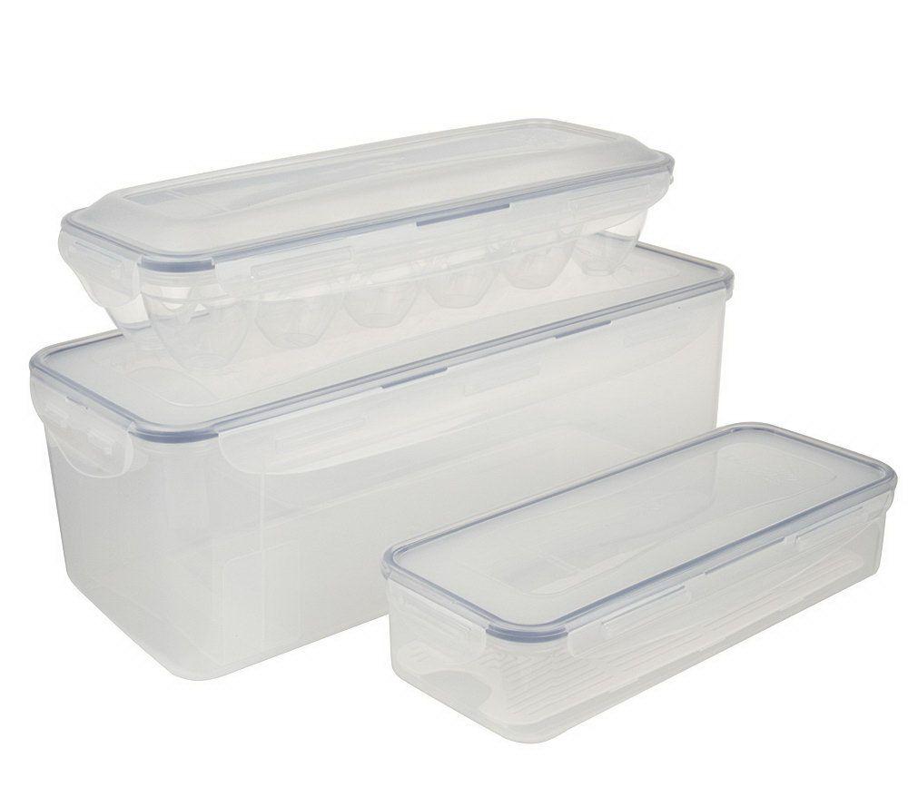 Superieur Lock U0026 Lock 3 Piece Bread Box, Bacon U0026 Egg Storage Set