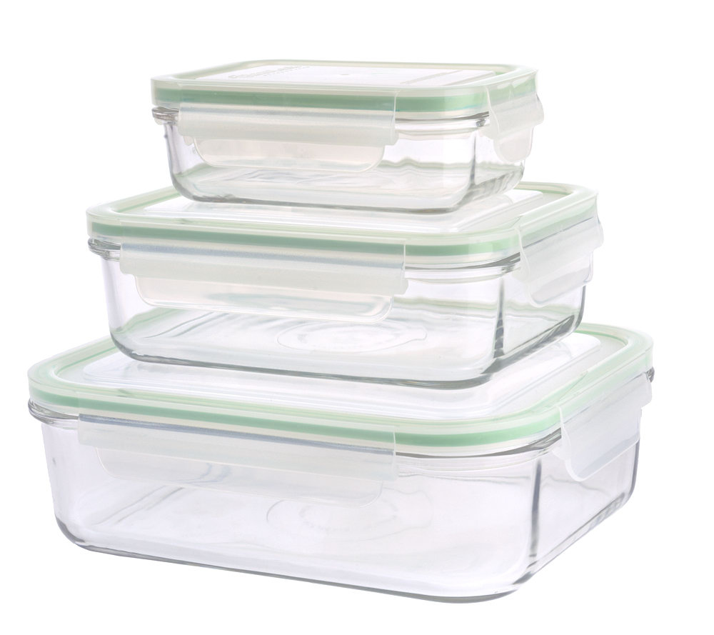 Prepology Set of 3 Glass Storage Containers wLocking Lids Page 1