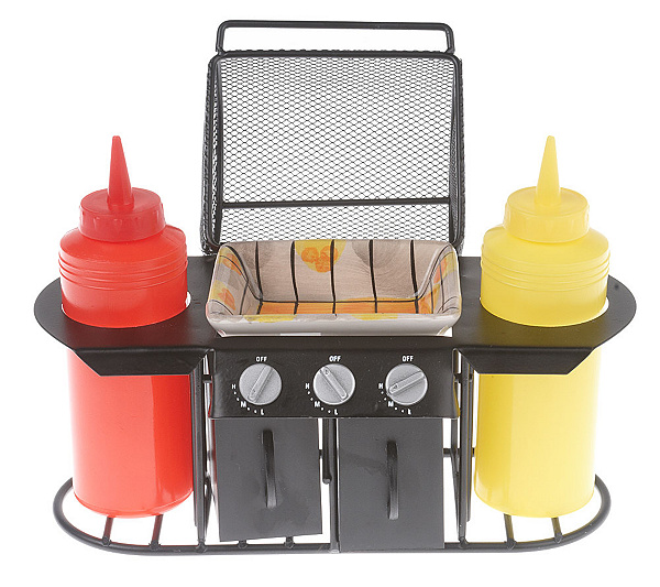 barbecue grill 6 piece condiment caddy set page 1 qvc com