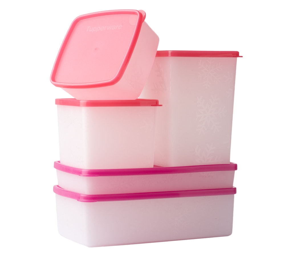 Tupperware 5 piece Freezer Safe Storage Set Page 1 QVCcom