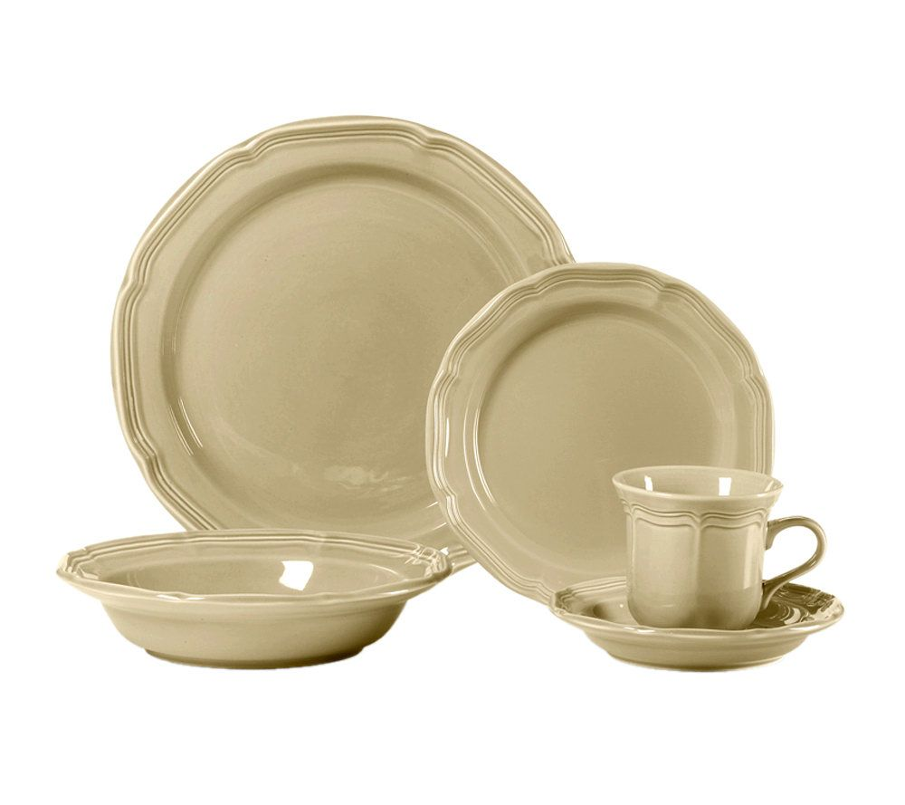 sc 1 st  QVC.com & Mikasa French Countryside Tan 5-Piece Place Setting \u2014 QVC.com