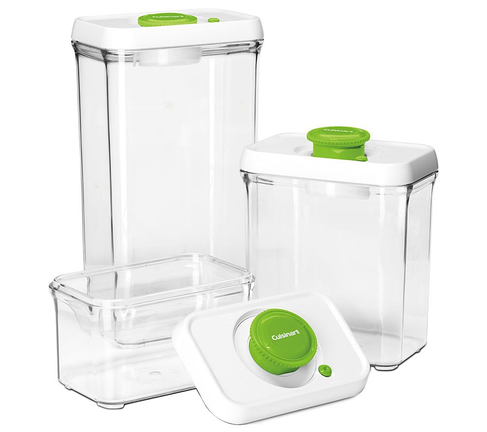 Cuisinart 6 Pc Vacuum Seal Food Storage Container Set   Page 1 U2014 QVC.com