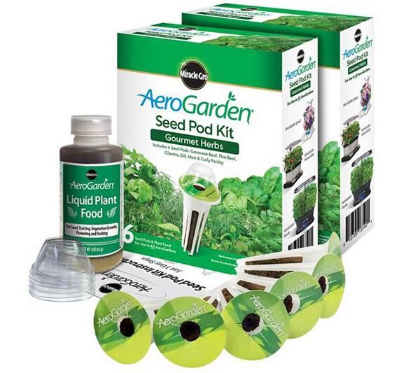 miracle gro aerogarden s2 6 pod gourmet herb seed pod kits page 1 qvccom - Areo Garden