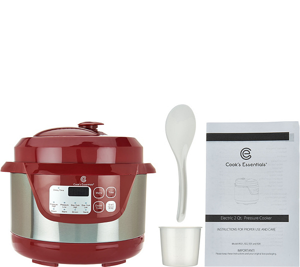 As Is Cooks Essentials 2 Qt Stainless Steel Pressure Cooker