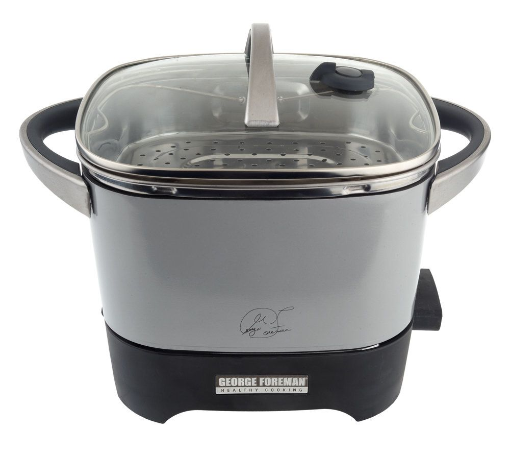 george foreman 20 cup healthy kitchen rice cooker w steam tray rh qvc com George Foreman GRP99 Manual George Foreman GRP99 Manual