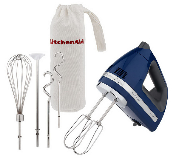 KitchenAid Professional 9 Speed Digital Hand Mixer w/ Bag&Attachments. Back to video