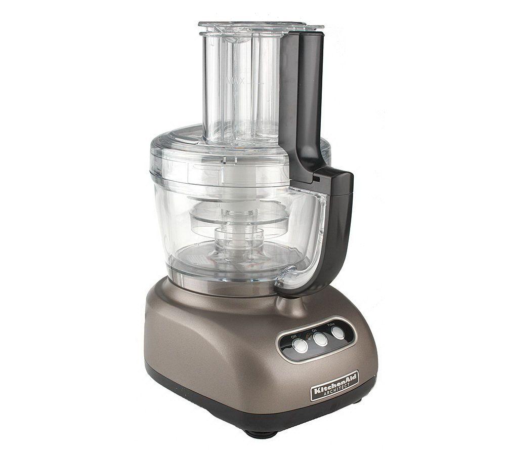 KitchenAid 12 Cup 3 In 1 Food Processor W/ 3 Bowls U0026 Accessories   Page 1 U2014  QVC.com