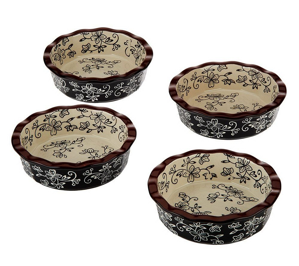 Ceramic Pie Plates - Page 1 u2014 QVC.com  sc 1 st  QVC.com & Temp-tations Set of 4 12 oz. Ceramic Pie Plates - Page 1 u2014 QVC.com