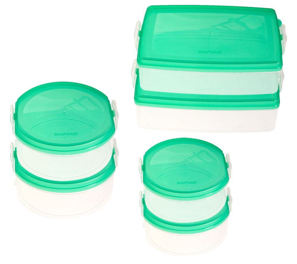 Snapware Snap N Stack 6 Piece Food Storage Container Set QVCcom