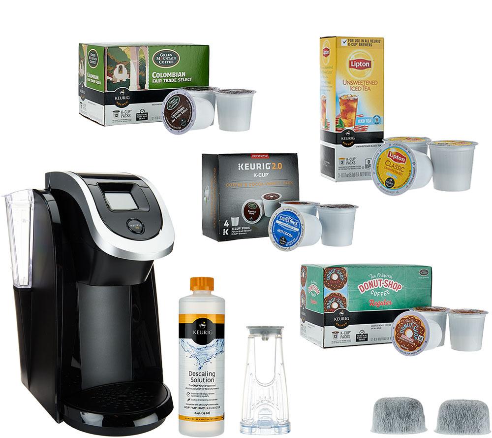 keurig 2.0 k250 coffee maker w/ 31 k-cup pods & water filter starter ...