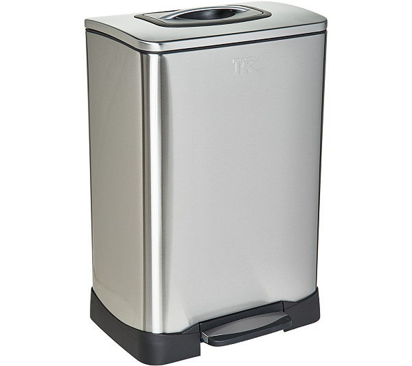 Trash Krusher 13-Gallon Stainless Steel Trash Can with Compactor Lid —  QVC.com